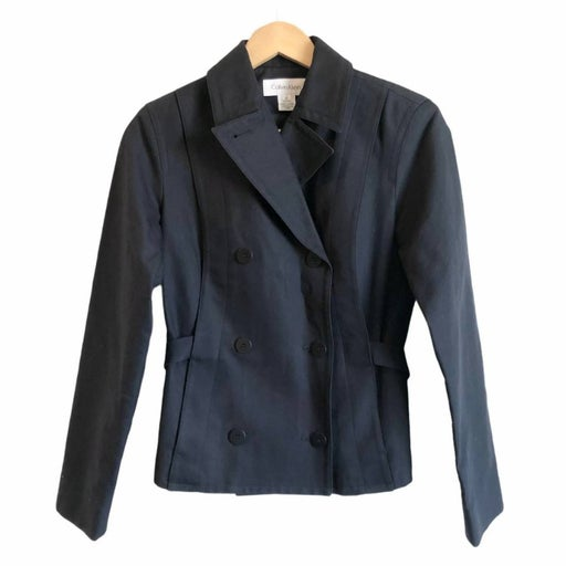 CALVIN KLEIN Navy Double Breasted Jacket