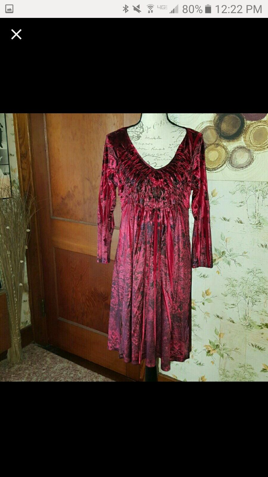 Dress ONE WORLD bohemian velvet