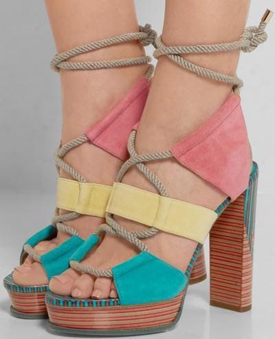 Jimmy choo multicolored heels