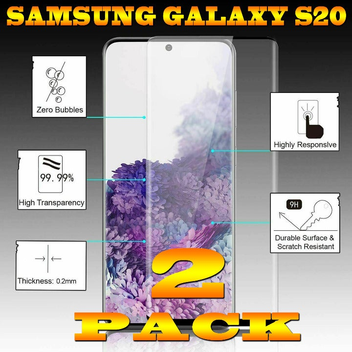 2-PACK S20 Galaxy Premium Tempered Glass