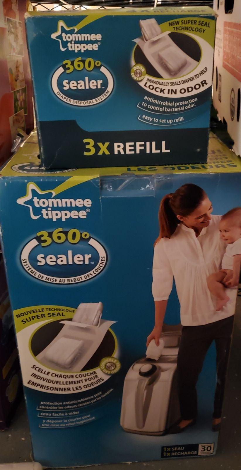 tommee tippee diaper genie new BOX DAMAG