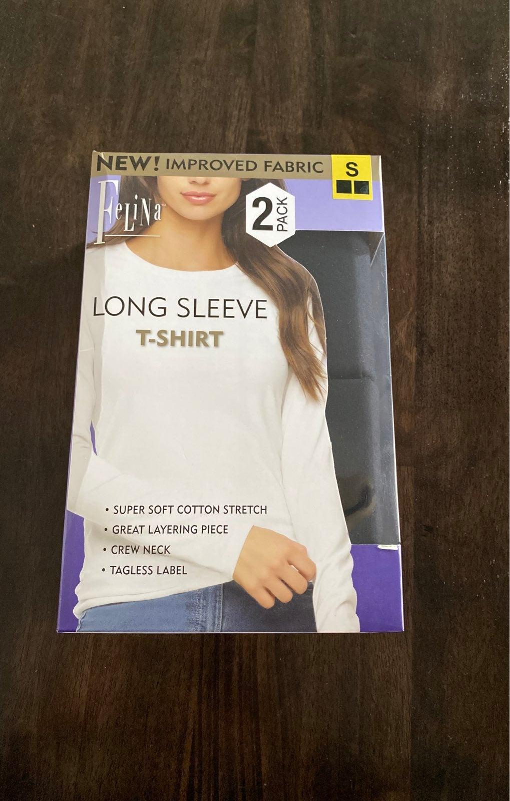 Black Long Sleeve Crew Neck Tee 2 pack