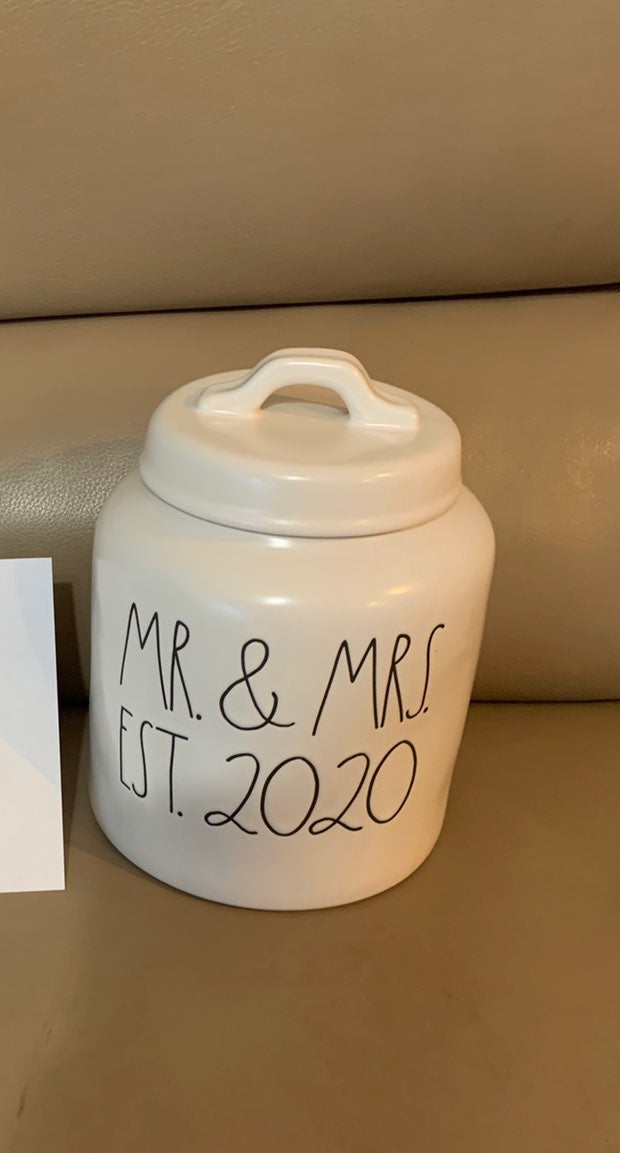 Rae Dunn Mr And Mrs 2020 Canister