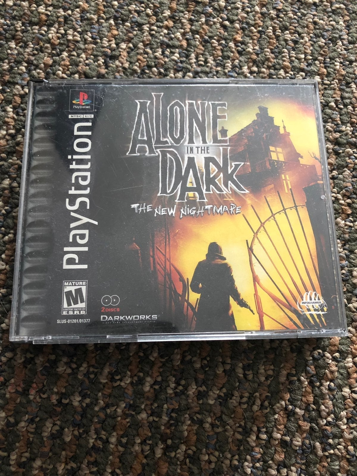 PS1 PlayStation Alone In The Dark Game