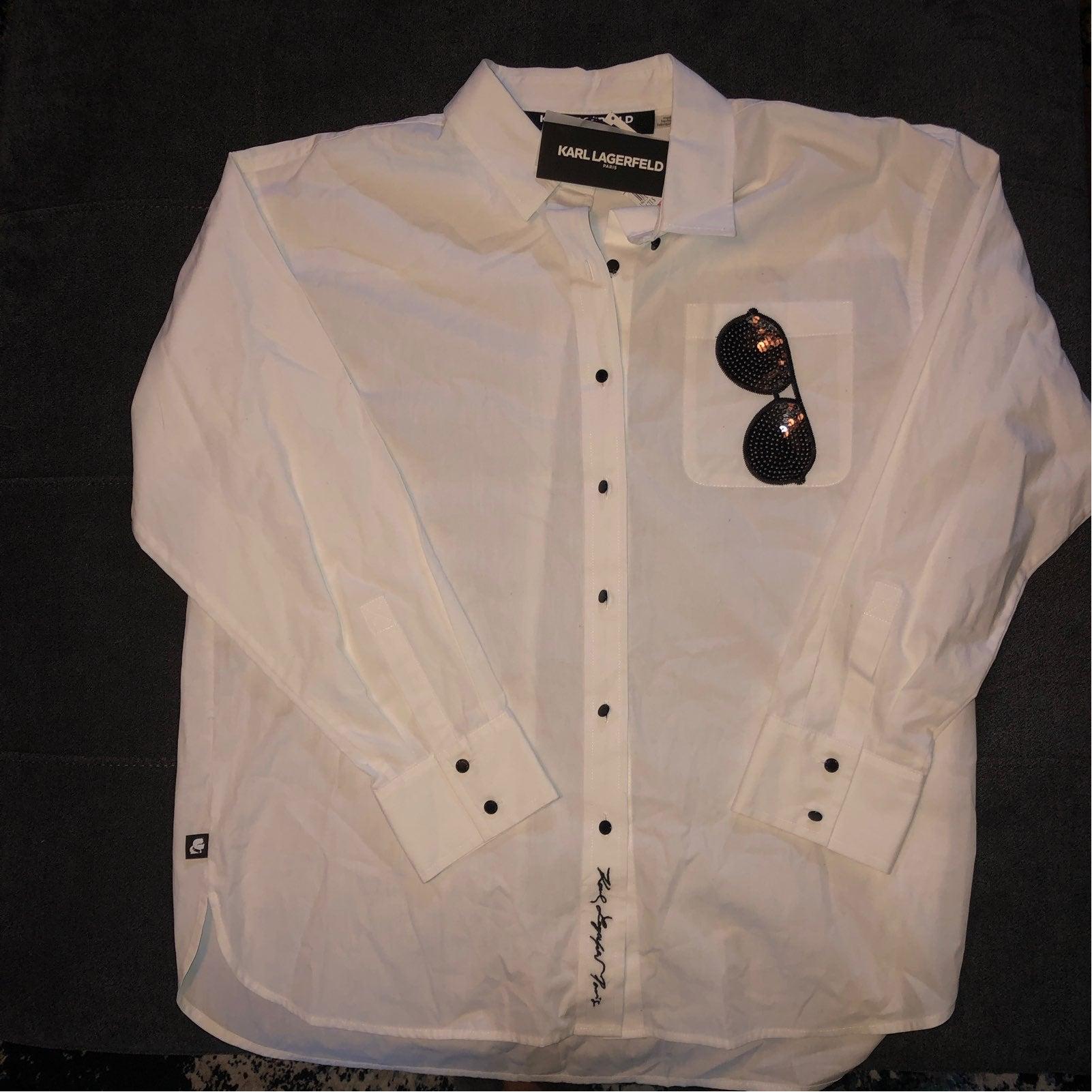 Karl Lagerfeld White Button Shirt