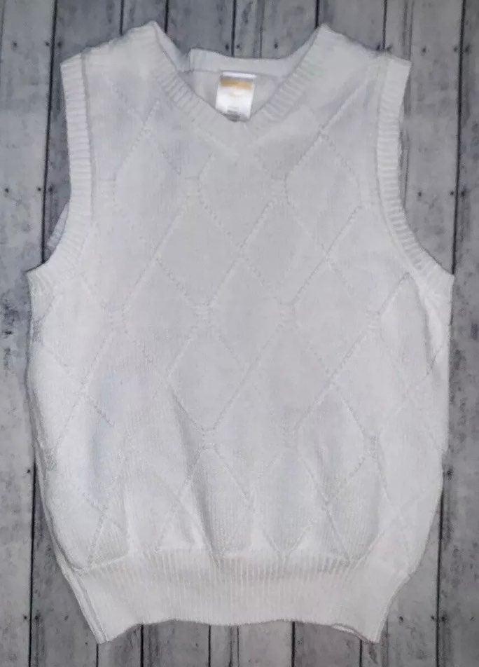 Gymboree Boys sweater Vest 4T White