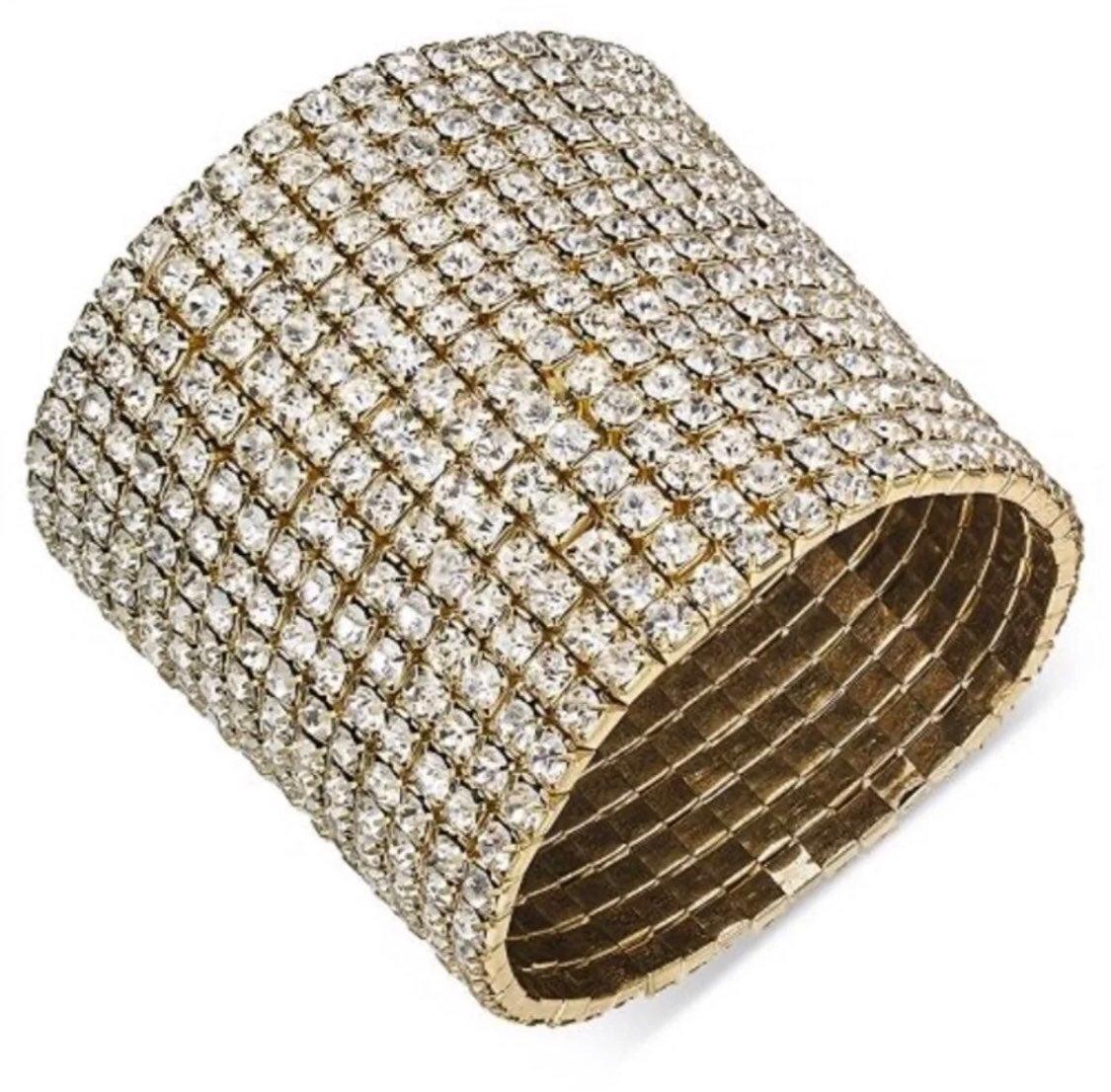 Thalia Sodi Goldtone Rhinestone Bracelet