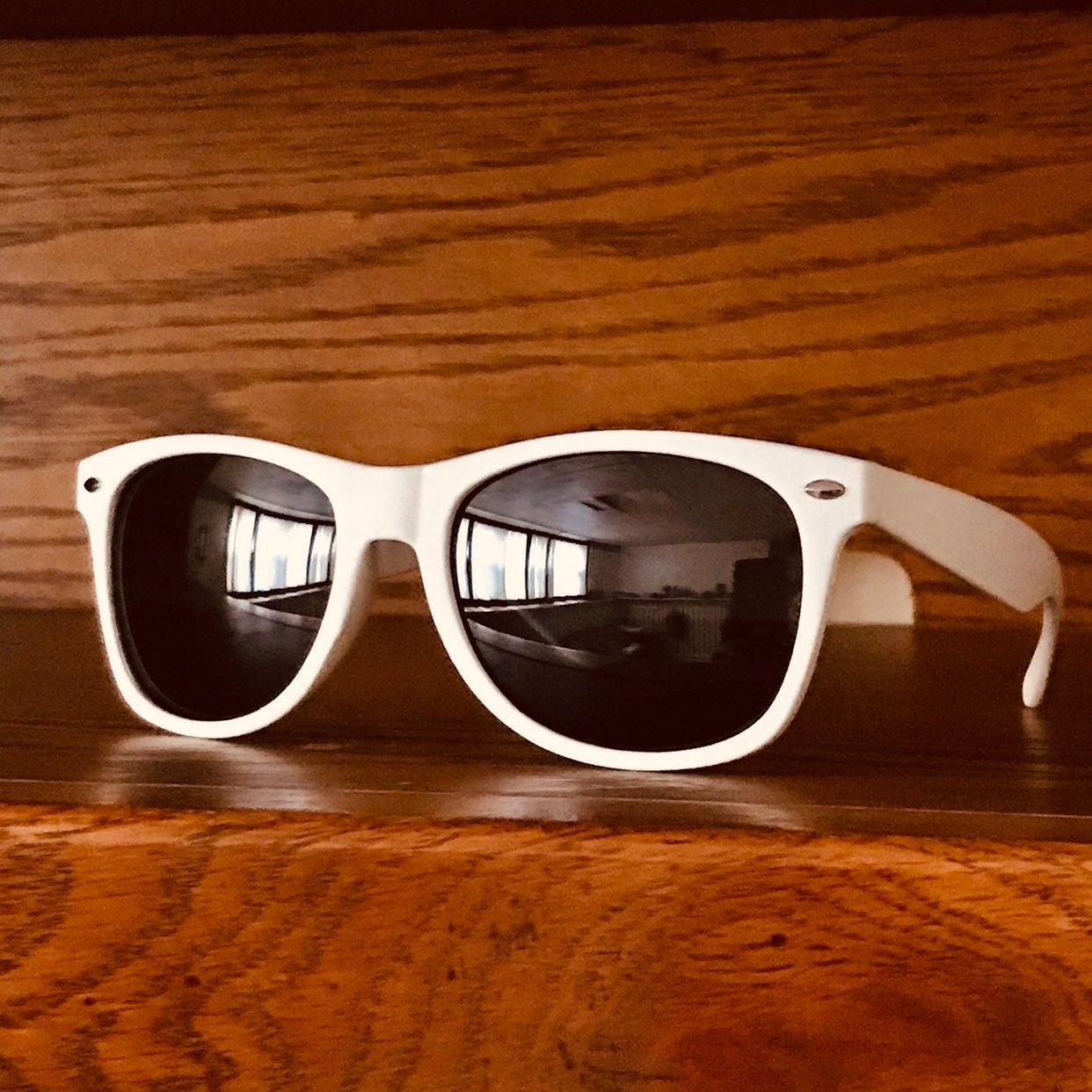 Smooth Operator White Matte Sunglasses