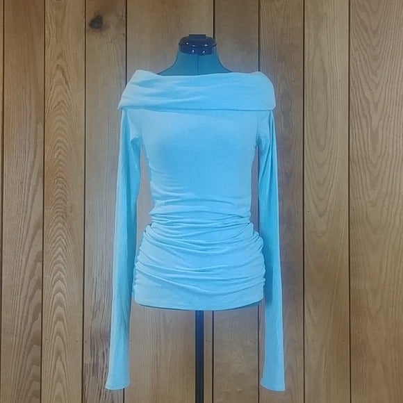 Rue21 Turquoise Cowl Long Sleeve Tunic S