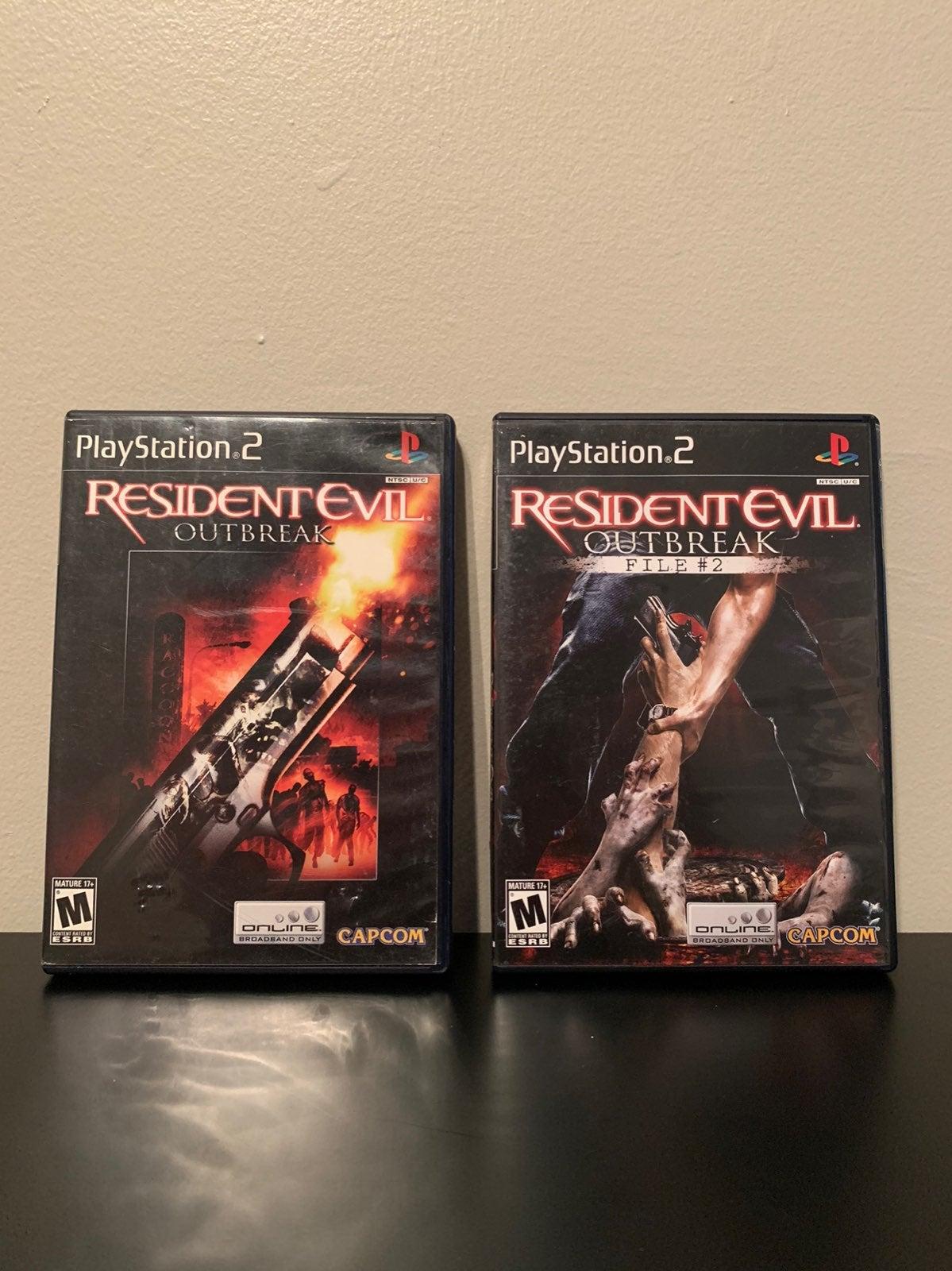 Resident Evil Outbreak & FIle #2 PS2
