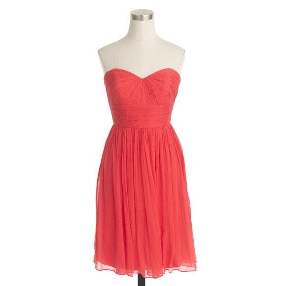 J CREW NWT Silk Chiffon Marbella Dress 4