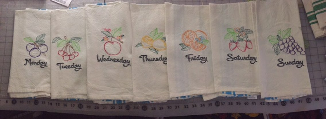 fruit kitchen towels