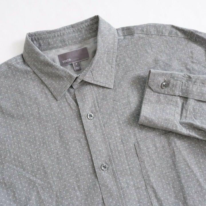 Vince Mens Button Up Long Sleeve Shirt