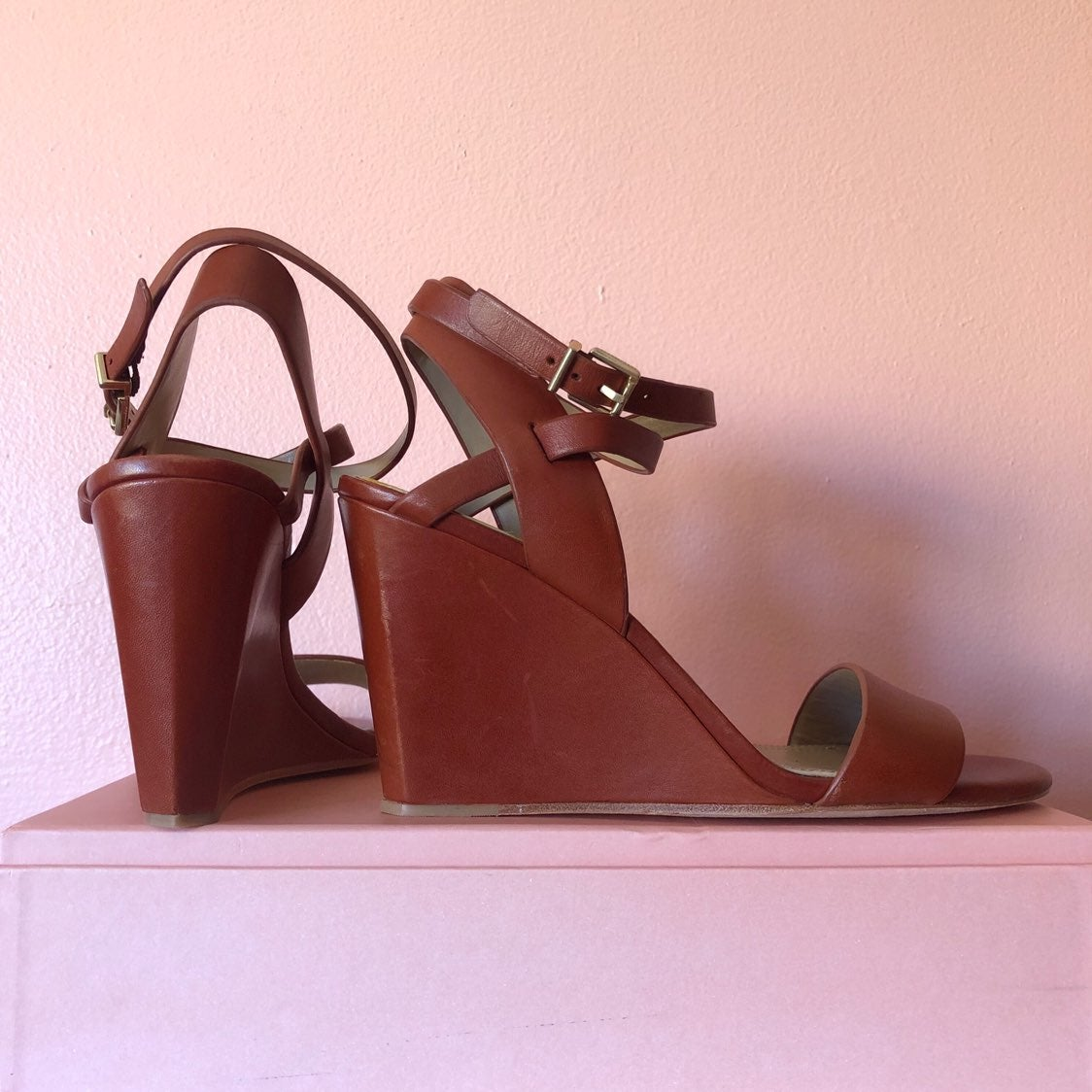 BCBG Max Azria Cinnamon Wedge Sandals