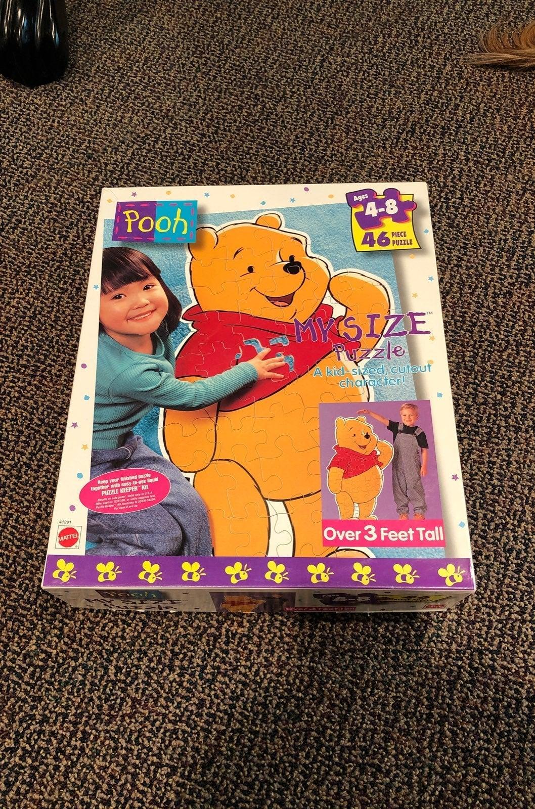 Mattel Pooh My Size Puzzle. 46 Pieces.