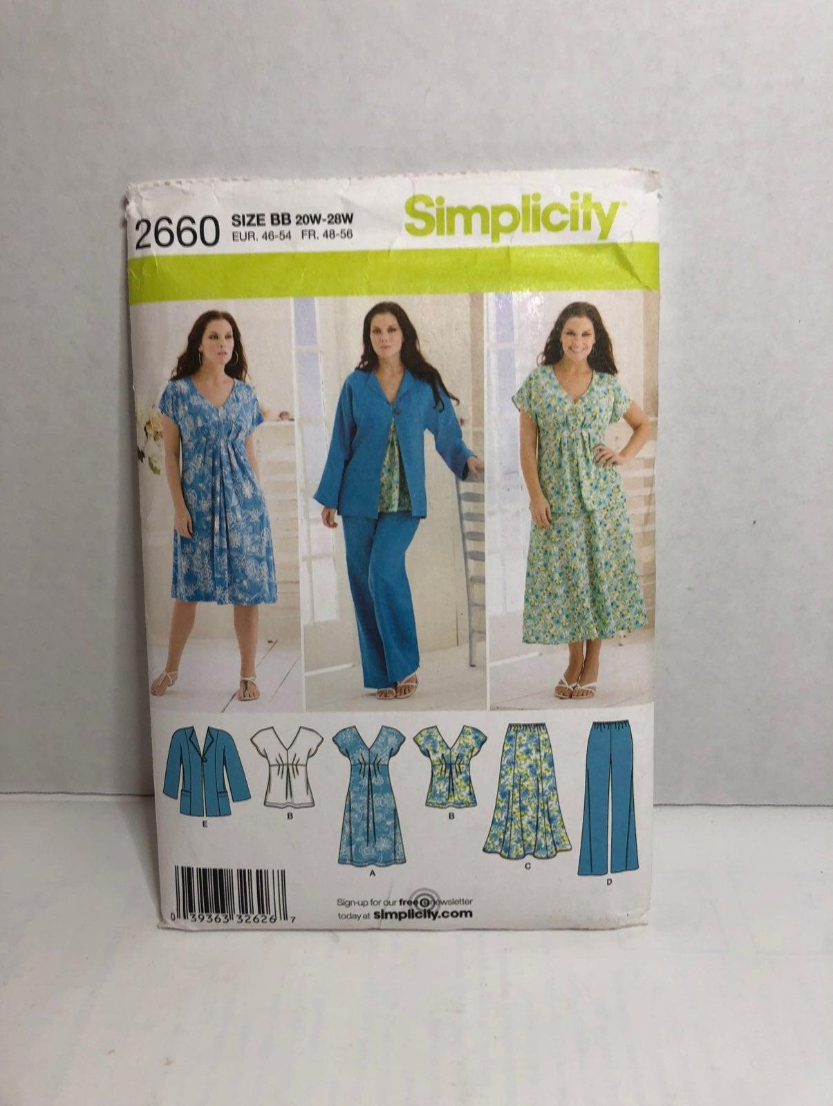 Simplicity 2660 Skirt, Dress, Pattern