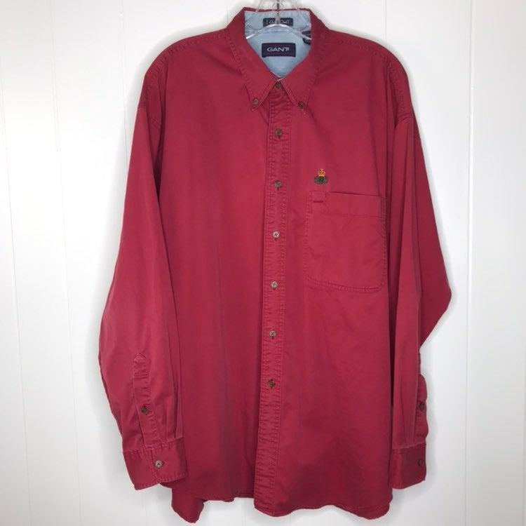 GANT Chelsea Twill Burgundy Shirt