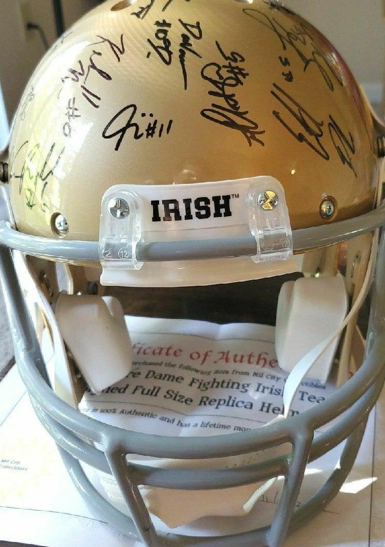 Notre Dame football team auto helmet