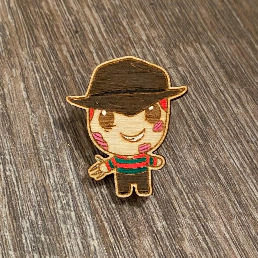 freddy krueger wooden pin