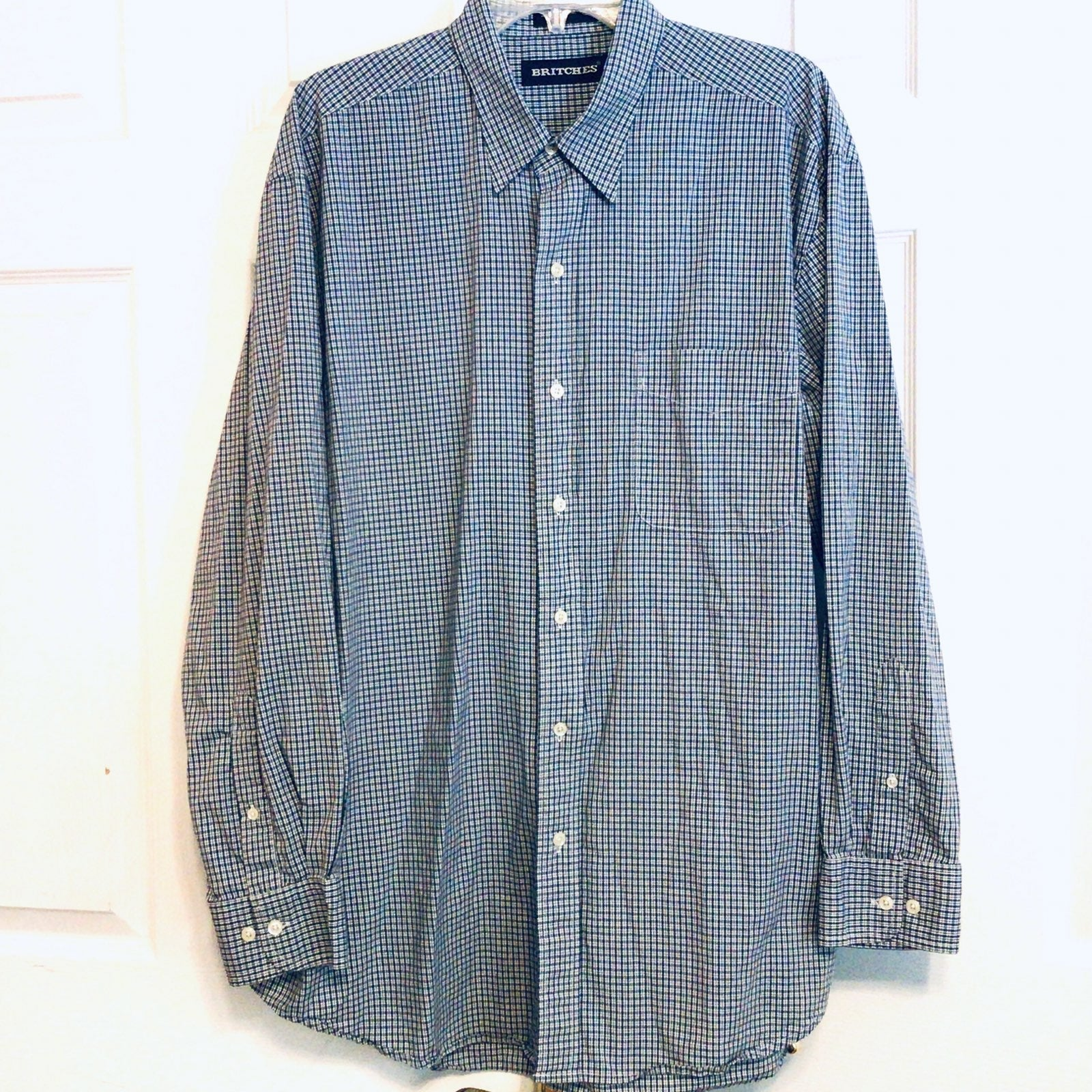 Britches Cotton Dress Shirt ~ XL
