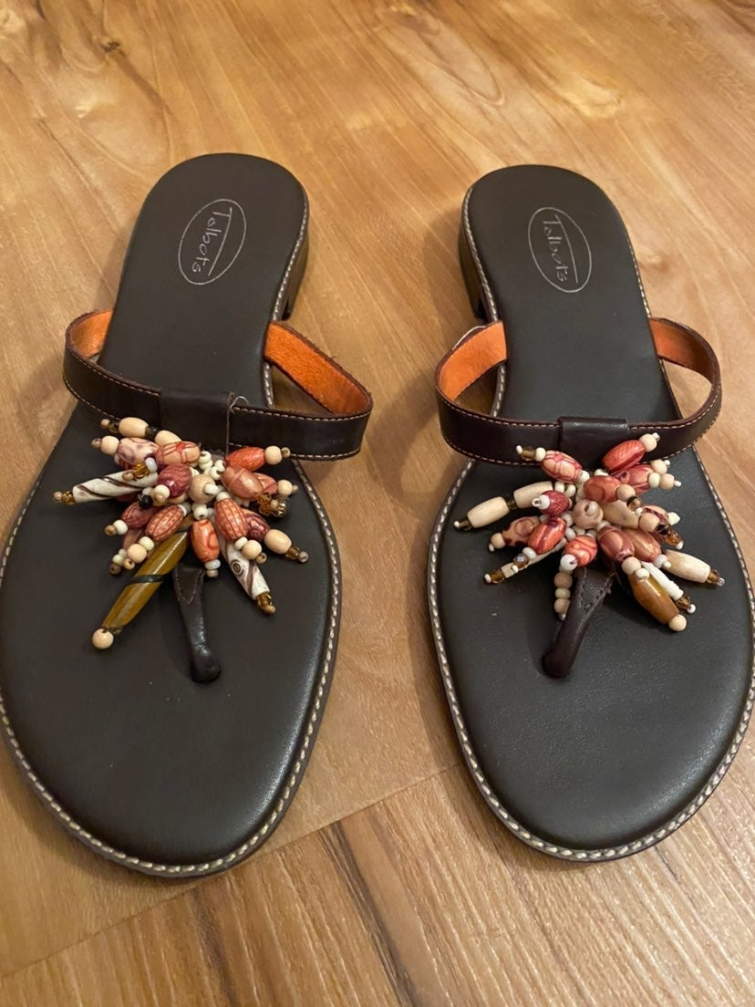 Sale!!! bohemian beaded leather sandals