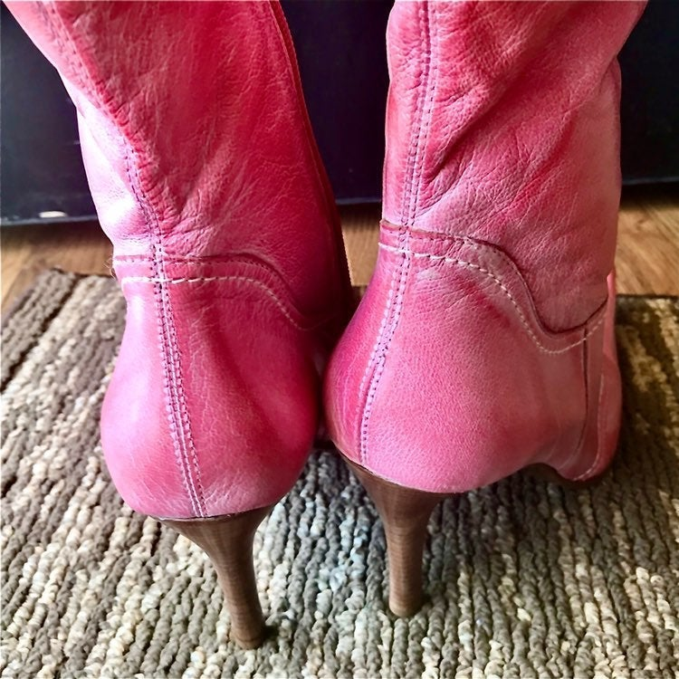 Bronx pink ankle boots size 11M