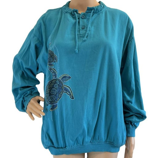 CRAZY SHIRTS Hawaii Turtle Top Cotton M