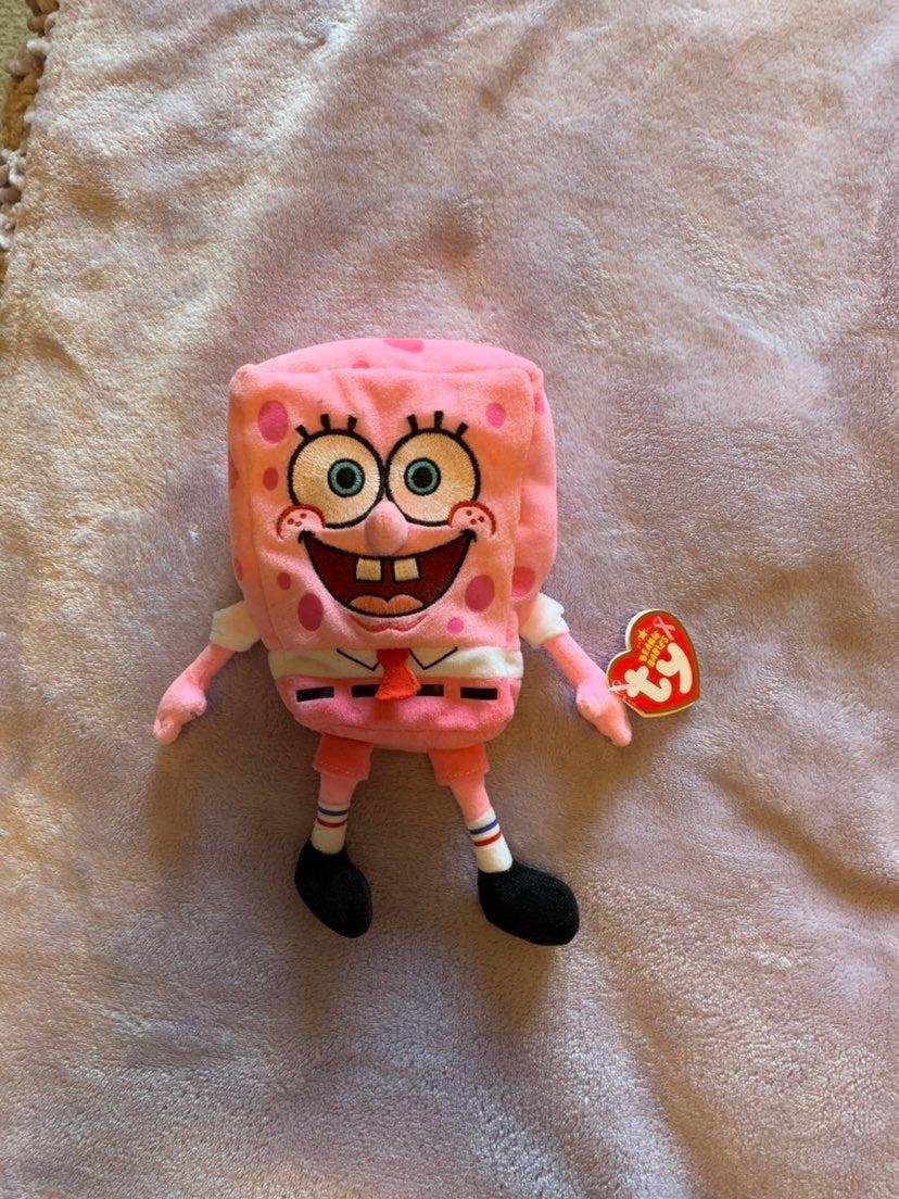 RARE Beanie Babies Spongebob Plush
