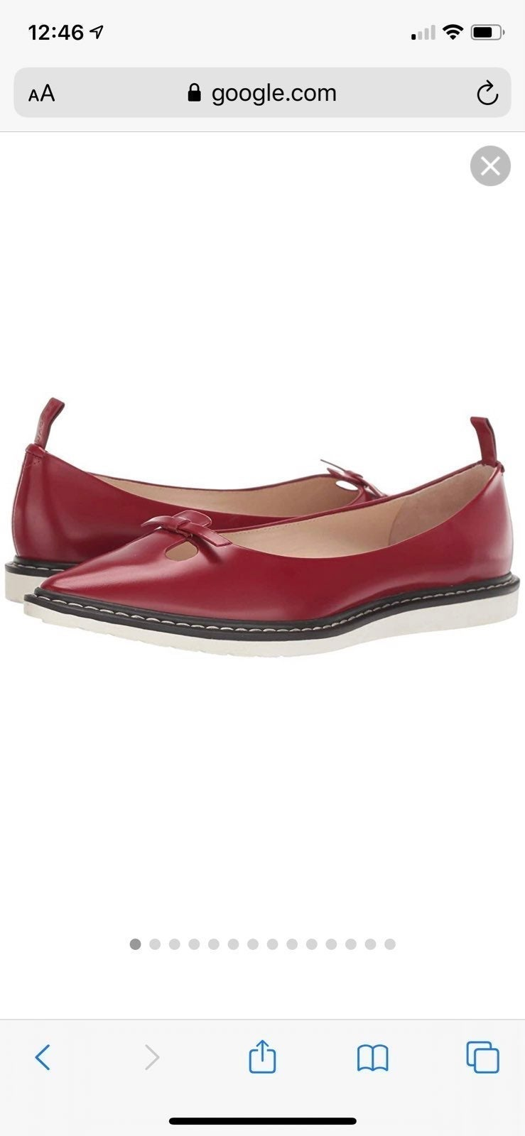 NEW Marc Jacobs red shoe flats new 6