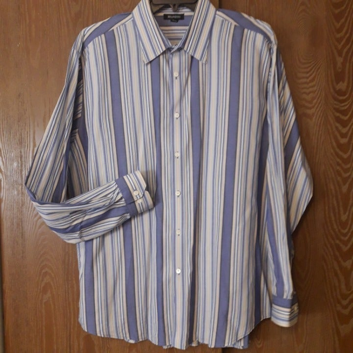 SALE! BRANDINI Men's Striped Shirt XXL