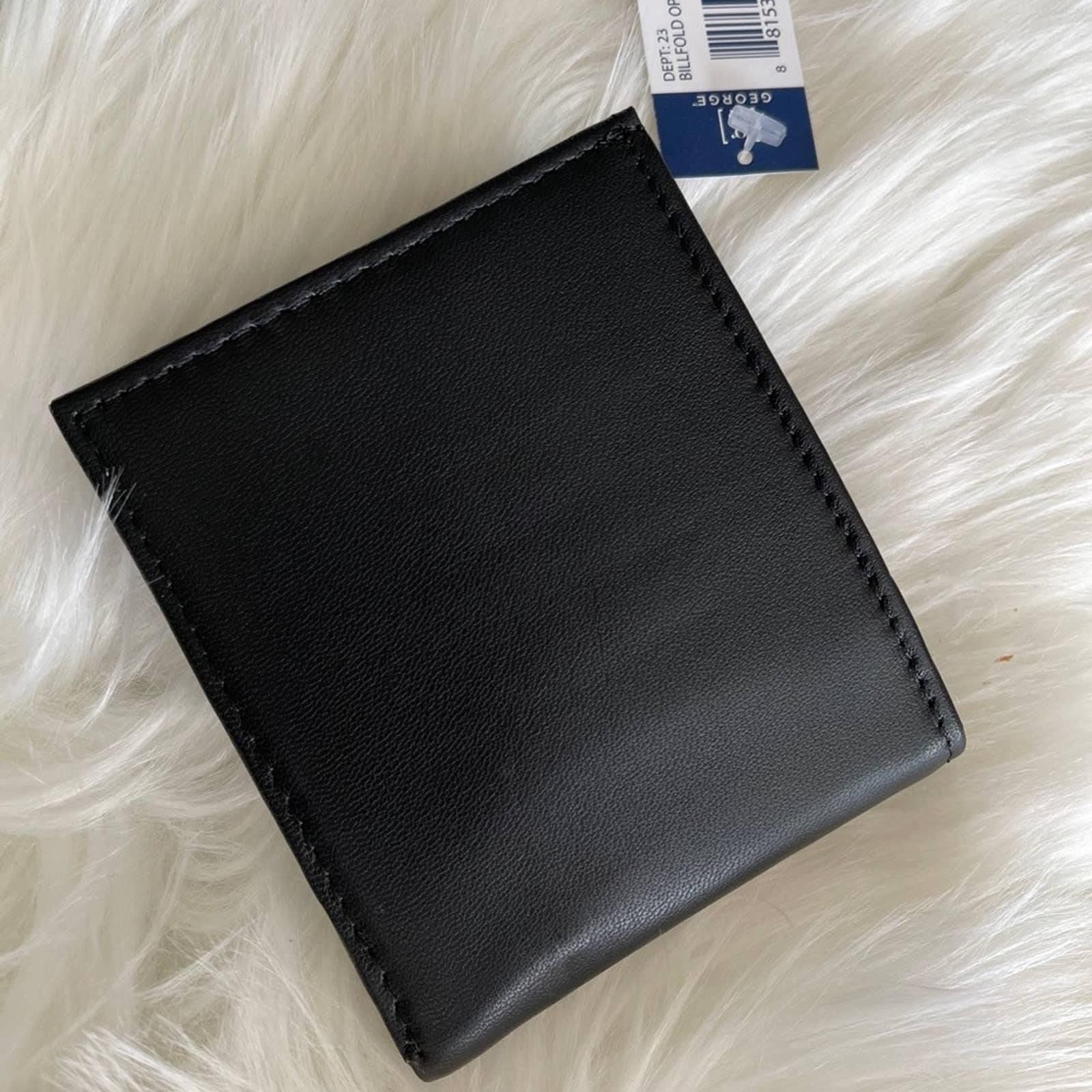 George Leather Slim Bifold Wallet new!