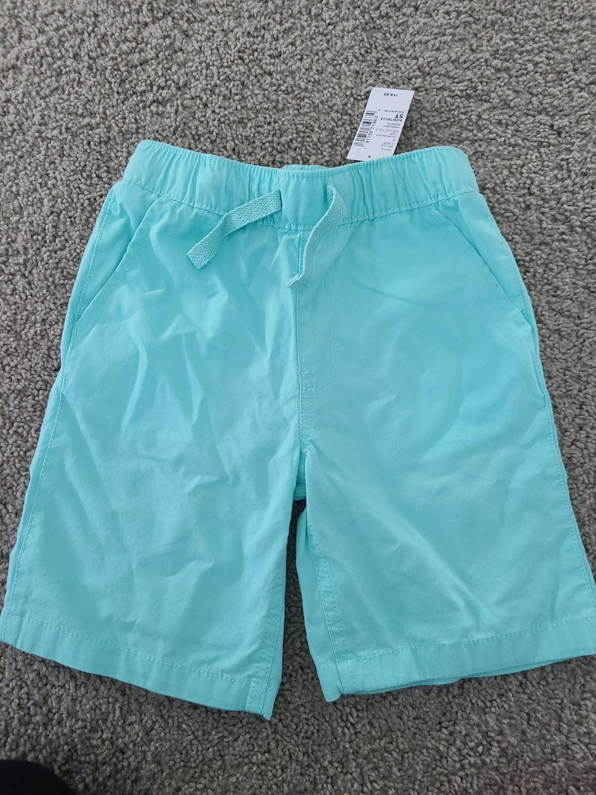 5t dress shorts nwt boy mint