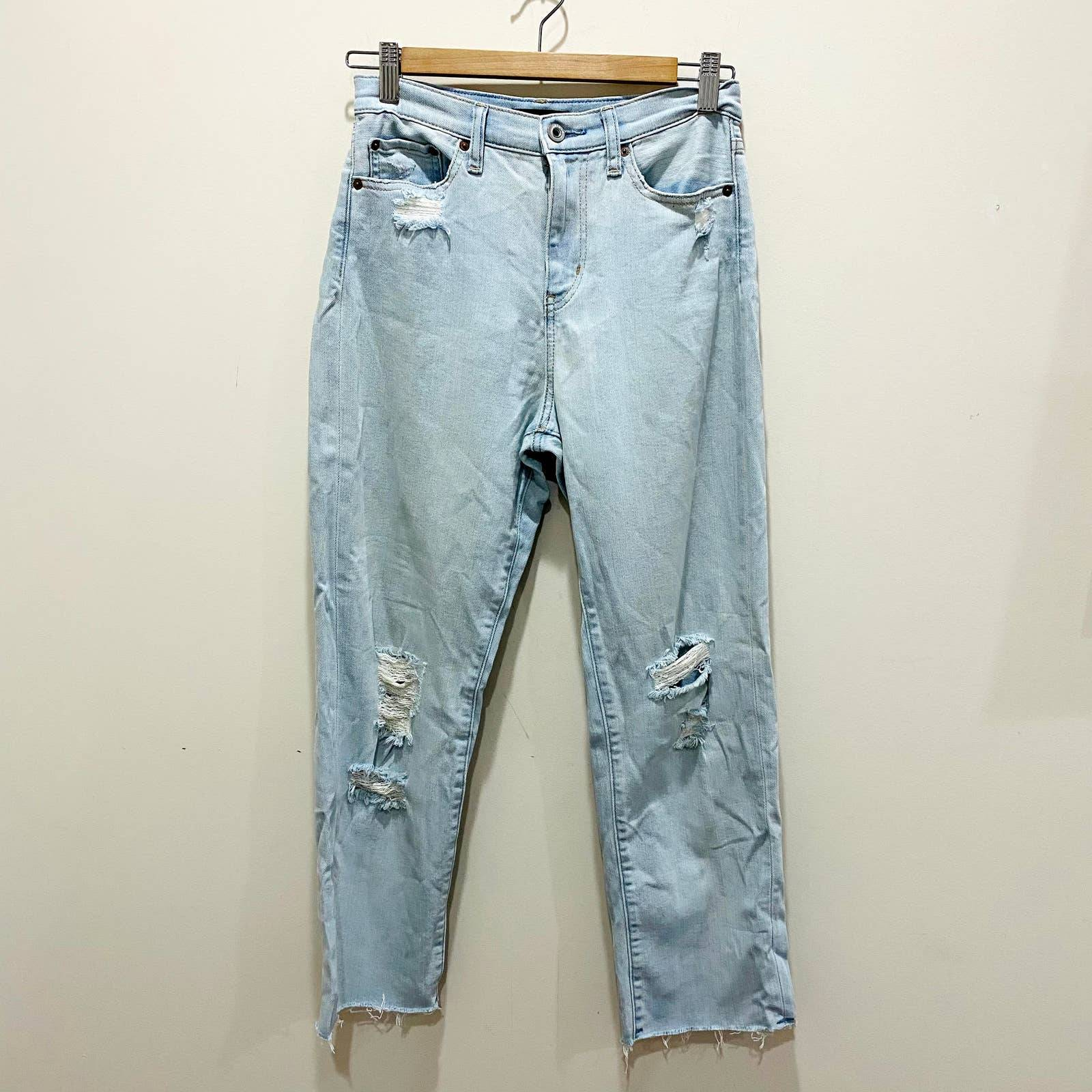 """Uniqlo Distressed Cropped Jeans 24"""""""