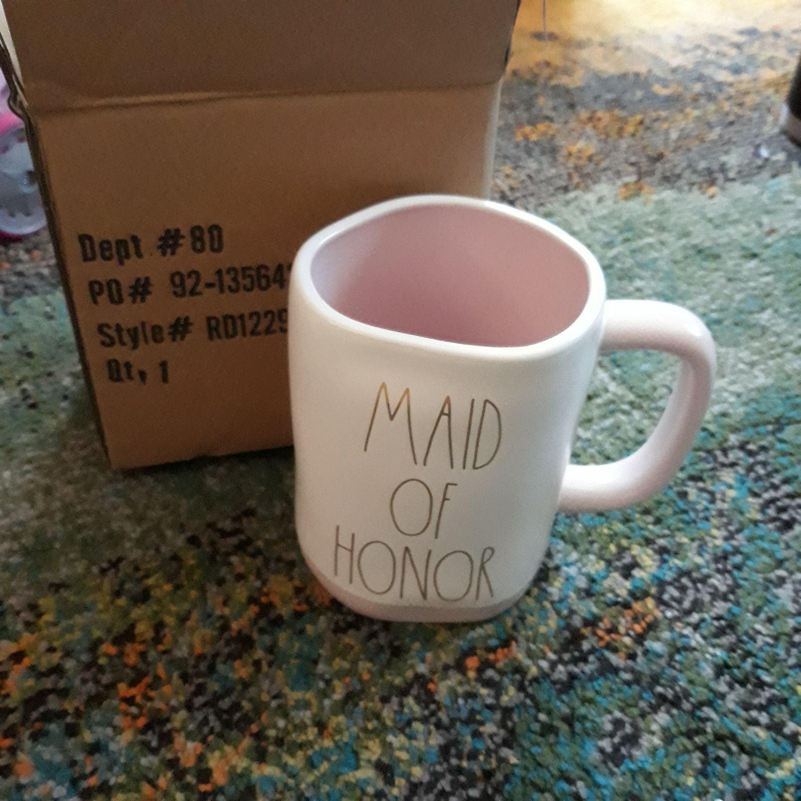 """New Rae Dunn """"MAID OF HONOR"""" Mug"""