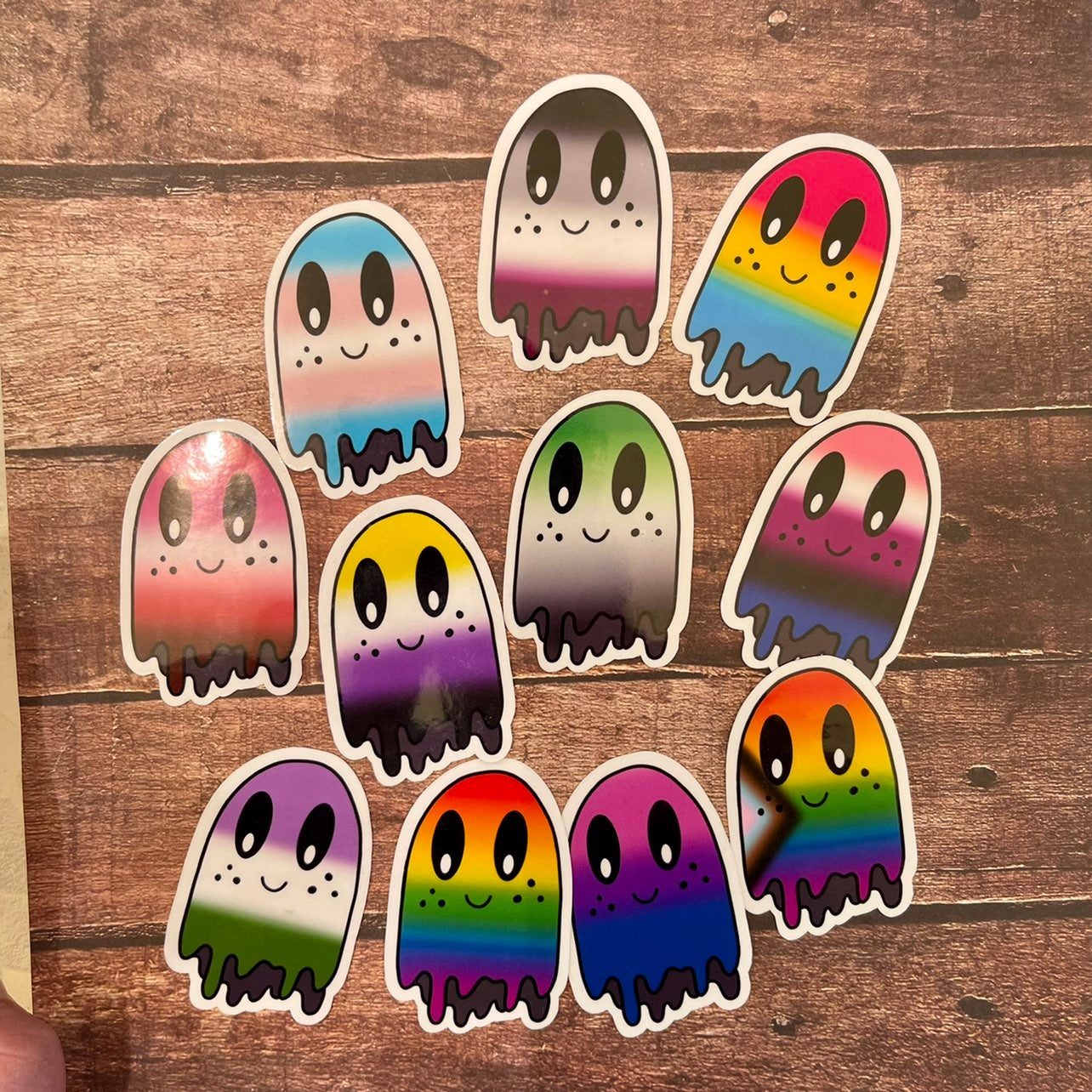 LGBTQ+ Pride Ghost Stickers