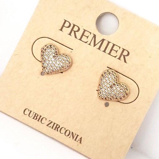 PREMIER GOLD HEARTS CUBIC ZIRCONIA