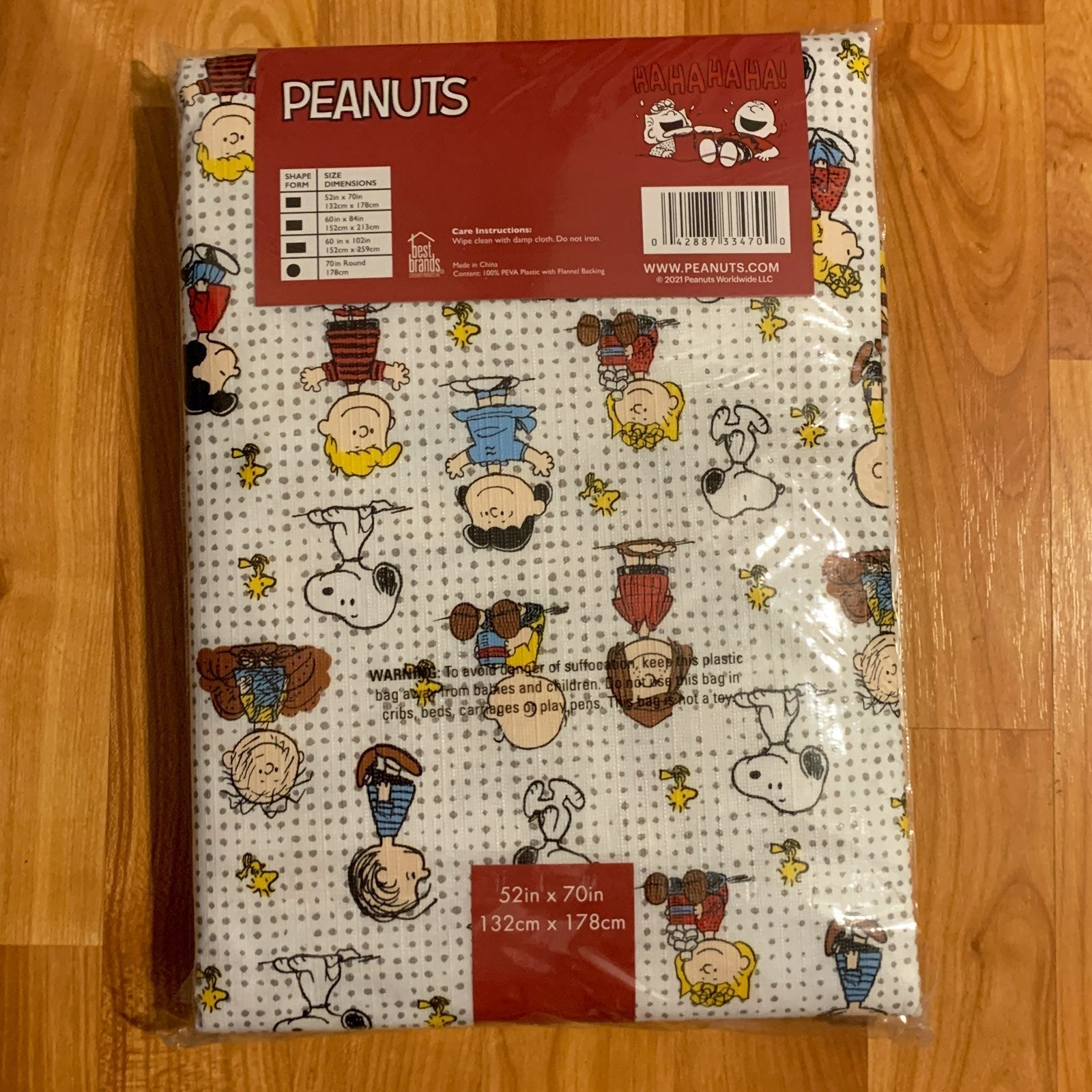 Peanuts Tablecloth