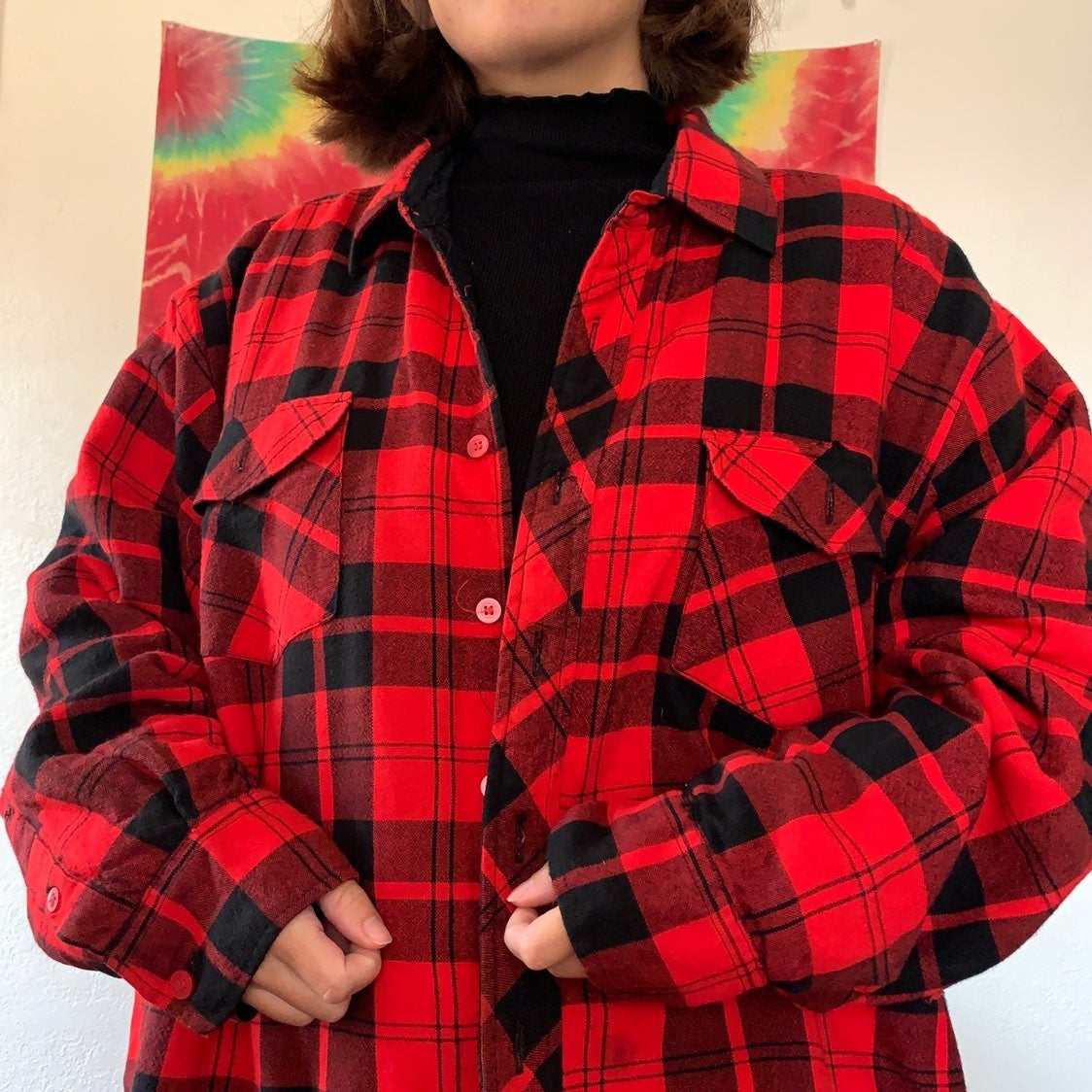 Mens Vintage Flannel Jacket
