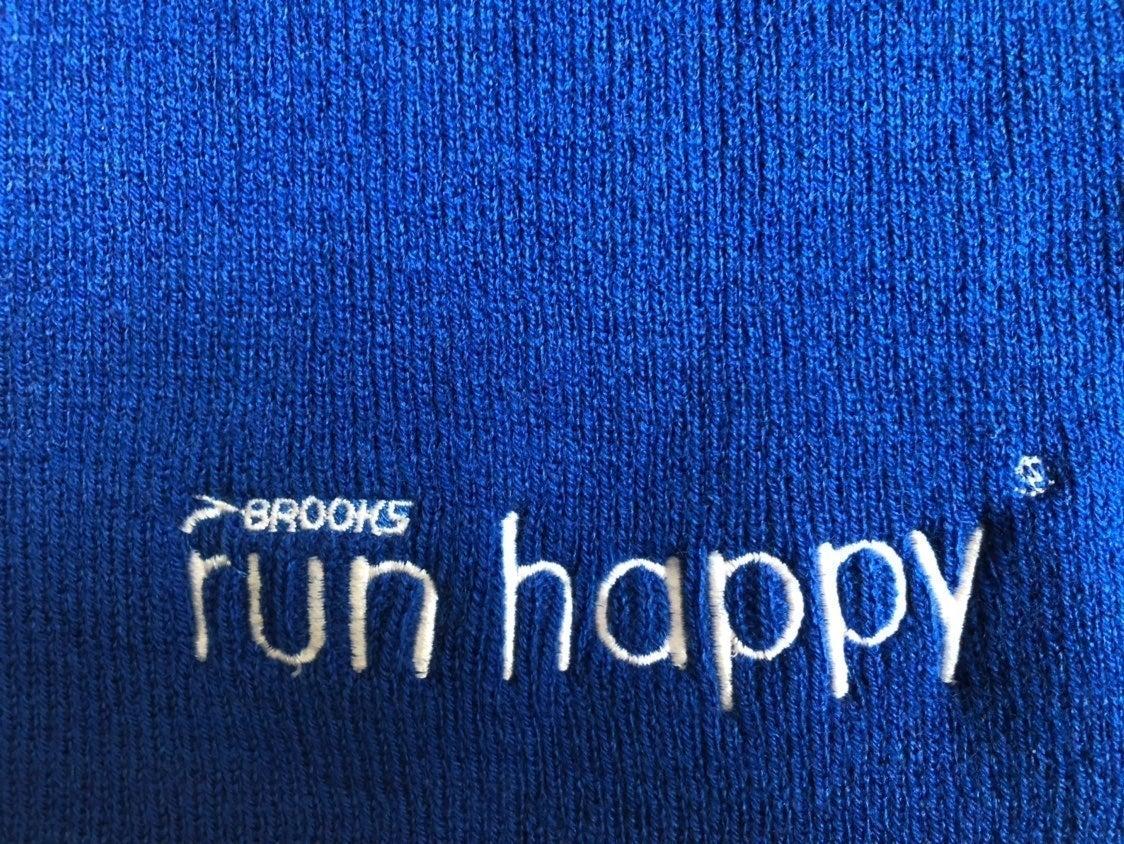 Blue Brooks Run Happy Beanie Hat