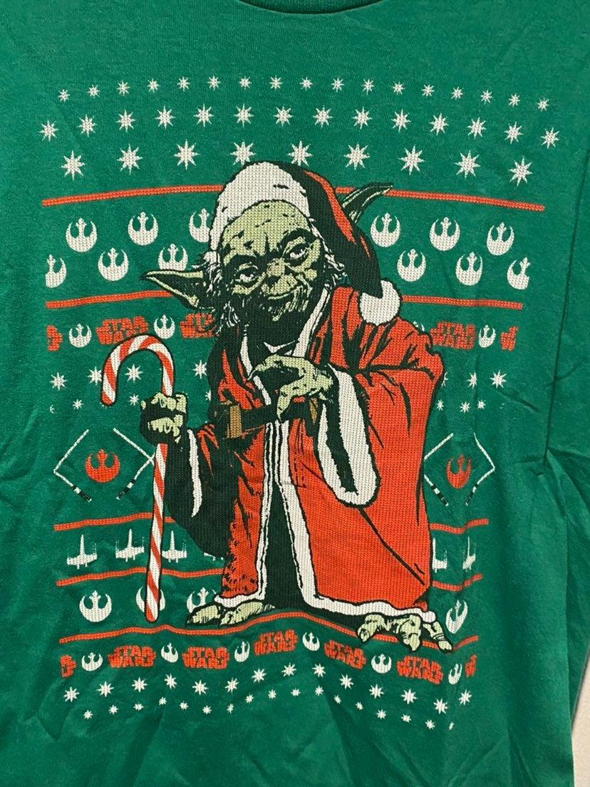 Star Wars Christmas Santa Yoda T-shirt M