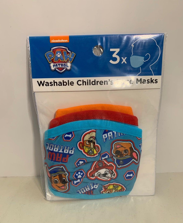 Paw Patrol 3pk face masks