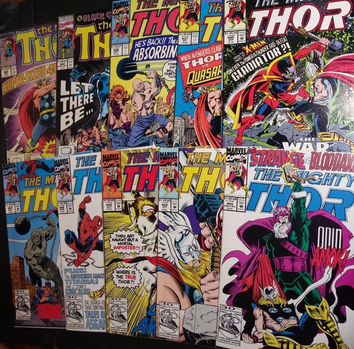 Mighty Thor 10 Issue Lot 400- 455 Marvel