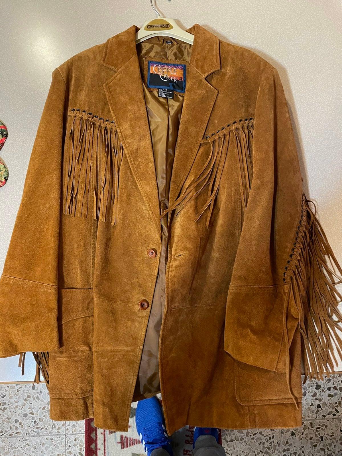 Vintage Leather Frill Jacket
