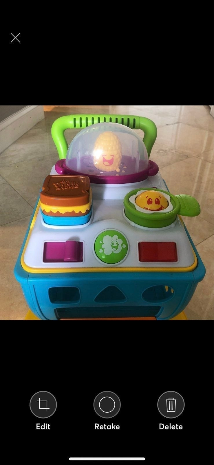Baby walker and car mirror