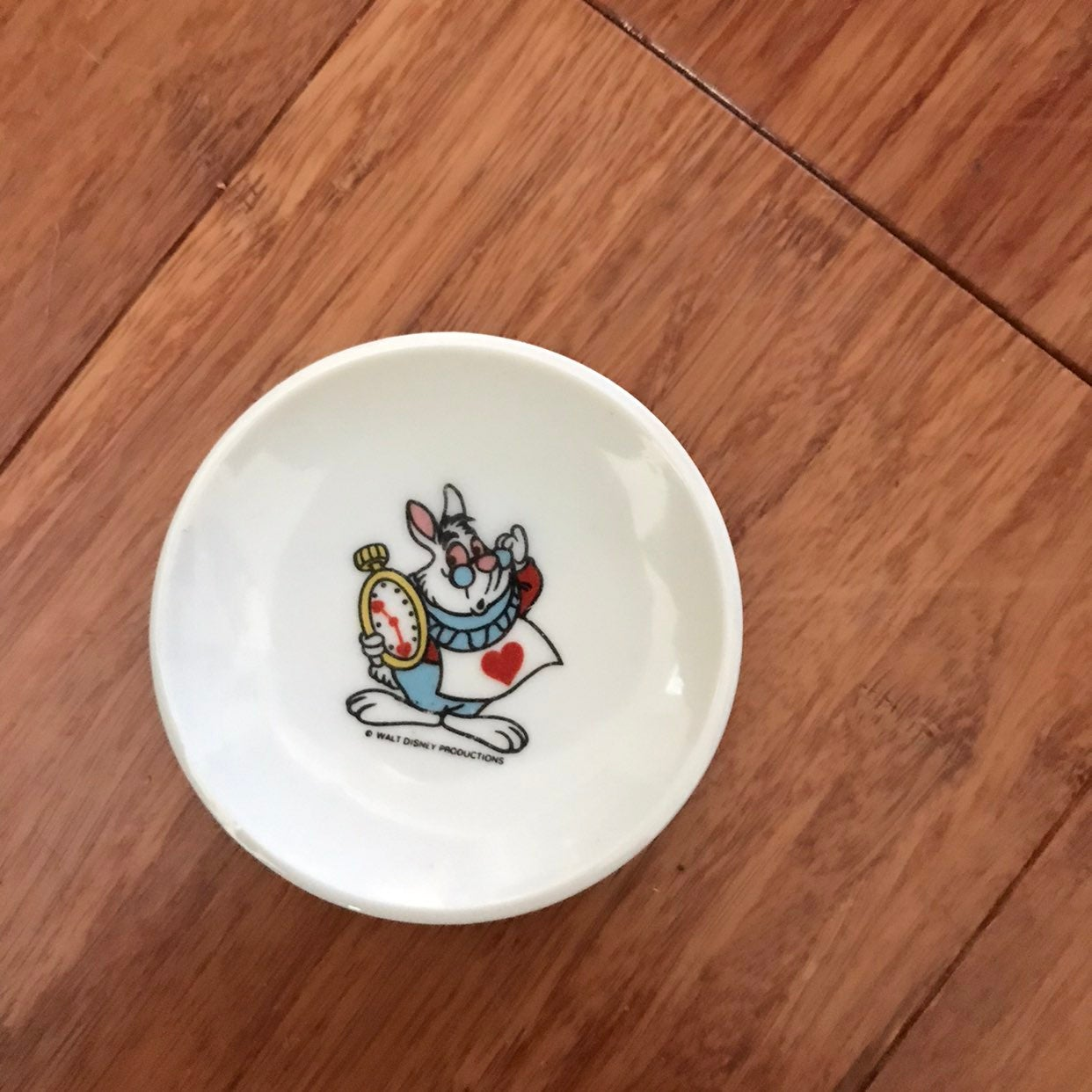 Vintage White Rabbit plate