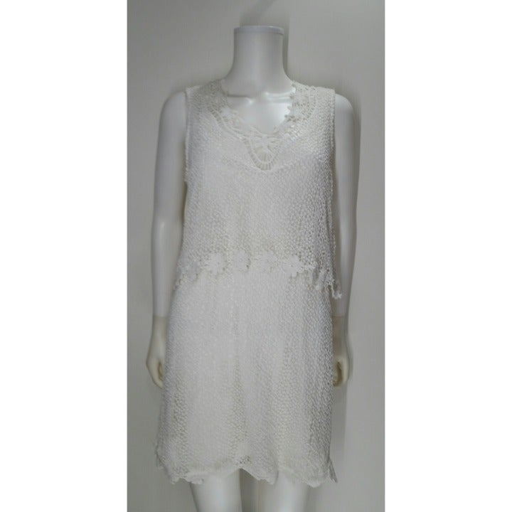 Top Shop White Lace Dress Size 8