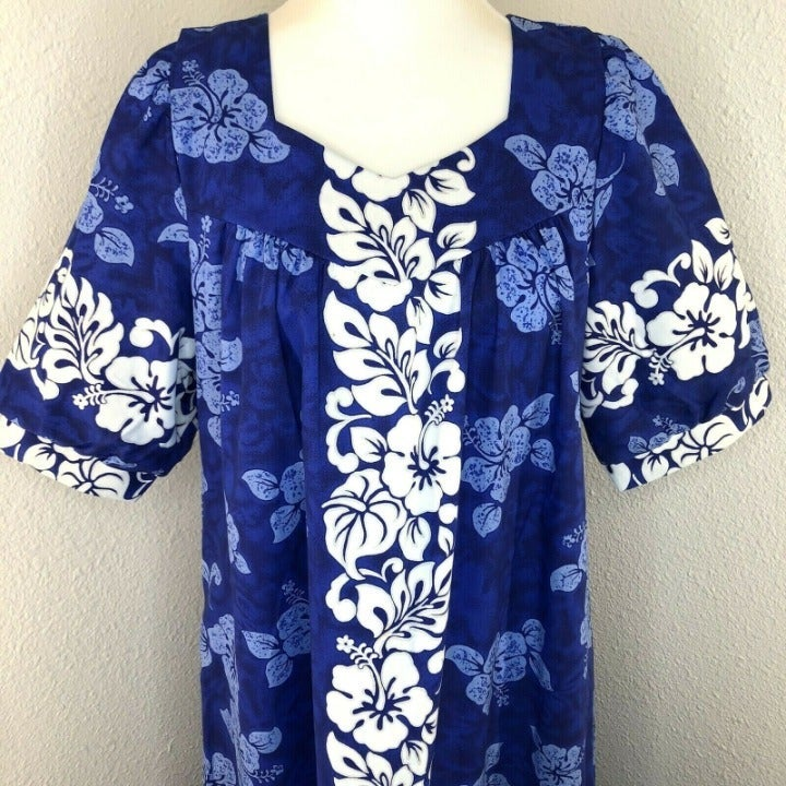 Royal Creations Hawaiian Maxi Dress Sz M