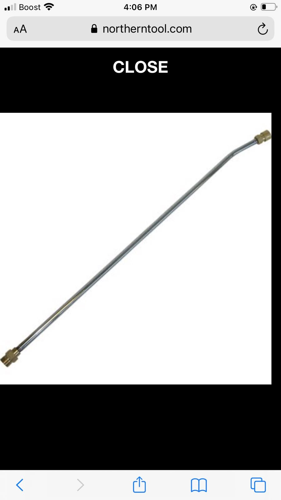 Northstar pressure washer wand