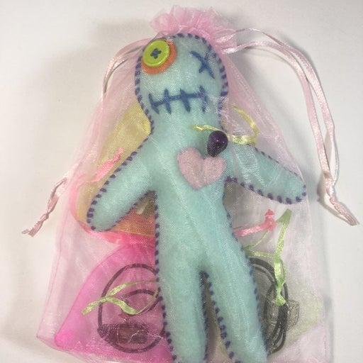 Handmade felt & yarn Juju Baby Doll gift bag