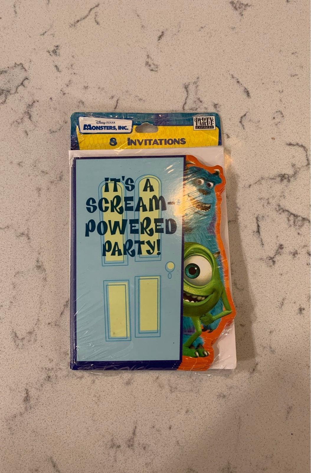 Disney Monsters Inc (8) Party Invitation